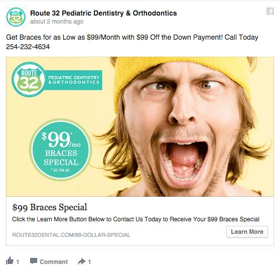 route 32 facebook ad