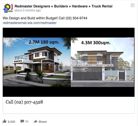 Redmaster Designers facebook