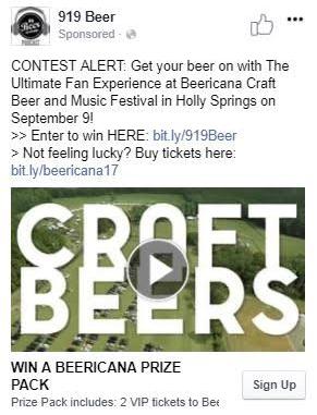 beericana facebook ad