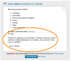 LinkedIn Customize Invitation