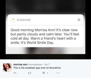 personalized push notification