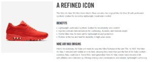 benefits in product descriptions